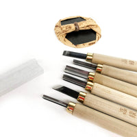 Japanese Woodcarving Set of 6