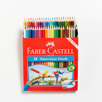 Faber-Castell Red Range Watercolour Pencils Set 48
