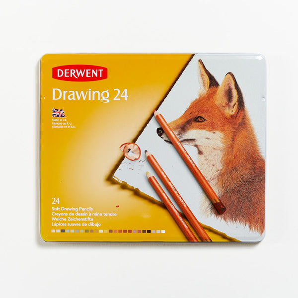 Derwent Drawing Colour Pencils Set of 24