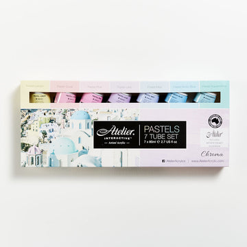 Atelier Acrylic Pastels 80mL Set 7