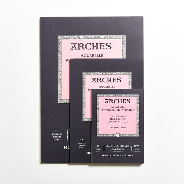 Arches Watercolour Pad 185gsm Hot Press