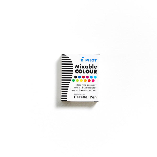 Pilot Parallel Pen Ink Assorted Colour Cartridge Pack of 12