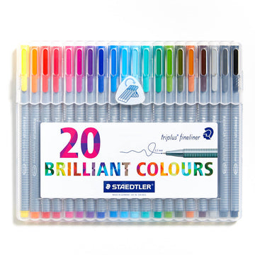 Staedtler Triplus Fineliner Set of 20