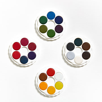 Koh-I-Noor Watercolour Disc Set - Brilliant Colours