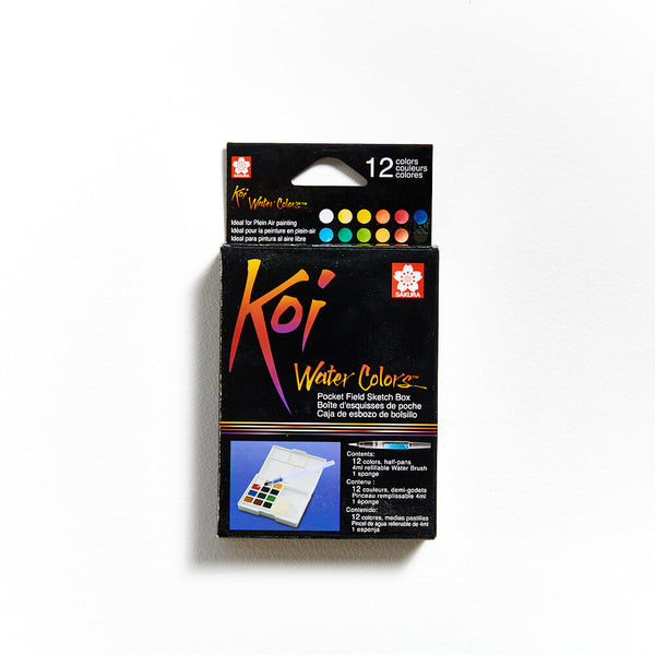 Koi Watercolour Field Sketch Box of 12 Pans