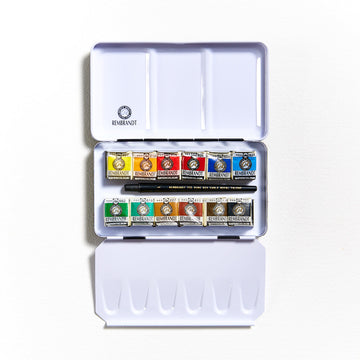 Rembrandt Watercolour Tin of 12 Half Pans