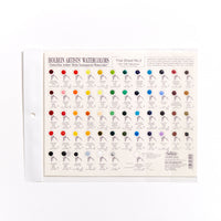Holbein Trial Sheet 1&2 - 216 Colours