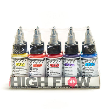 Golden High Flow Acrylic 30mL Set of 10 Transparent