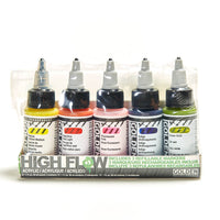 Golden High Flow Acrylic 30mL Set of 5 Plus Markers