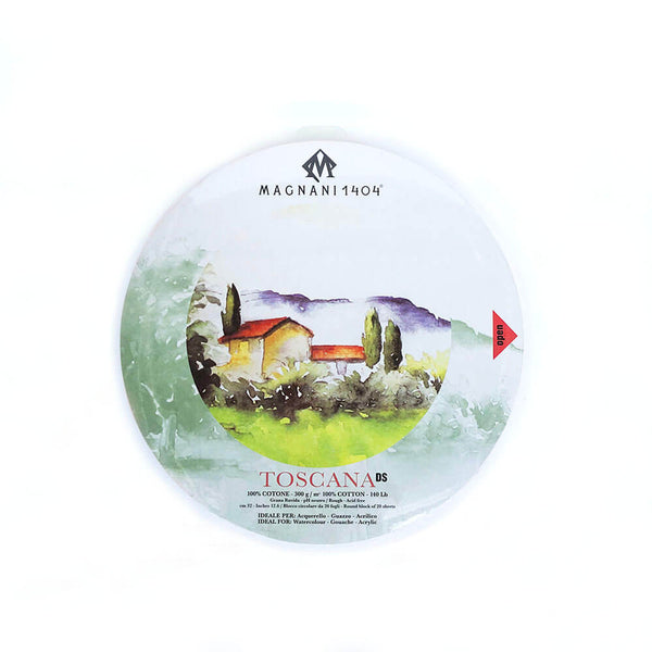 Magnani Toscana Round Watercolour Block 300gsm Rough