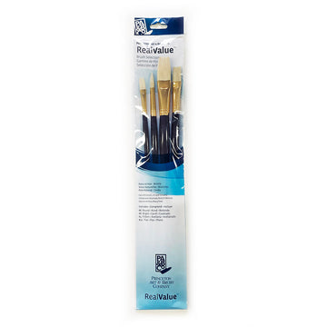 Real Value Assorted Long Handle Bristle Brush Set of 4