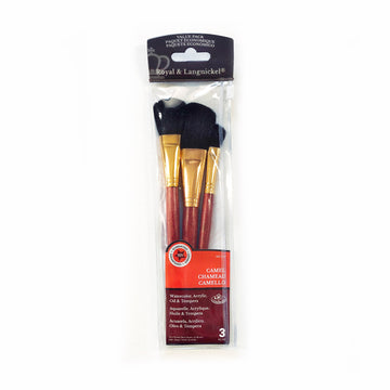 Royal & Langnickel Camel Mop Brush Set of 3