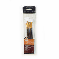 Royal & Langnickel White Taklon Fan Brush Set of 4