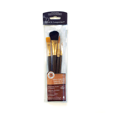 Royal & Langnickel Gold Taklon Brush Set of 4