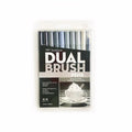 Tombow Dual Brush Pen Greyscale Set of 10
