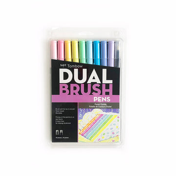 Tombow Dual Brush Pen Pastel Set of 10