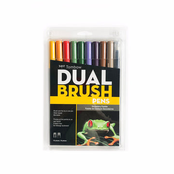 Tombow Dual Brush Pen Secondary Set of 10