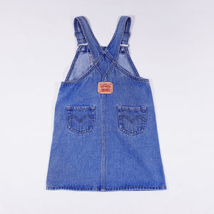 Vtg Levis Washed Dungaree Dress 4-5yrs