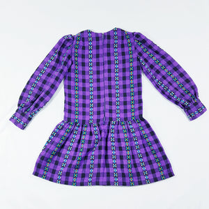Vtg Wool Plaid Dress 4-5yrs