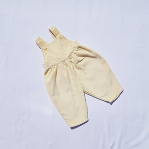 Vtg Dungarees Trousers Canary Needlecord 3mths-1yrs