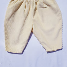 Load image into Gallery viewer, Vtg Dungarees Trousers Canary Needlecord 3mths-1yrs