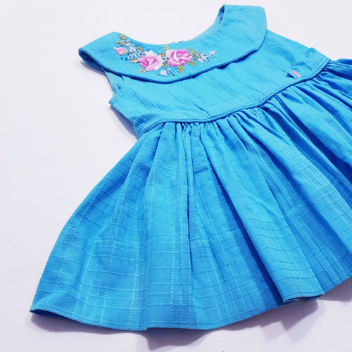 Vtg Embroidery Peplum Fitted Top 4-5yrs