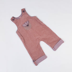 Vtg Retro Lined Dungarees 1-2yrs