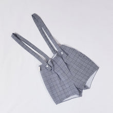 Load image into Gallery viewer, Vtg Plaid Monochrome Shorts with Braces 2-3yrs