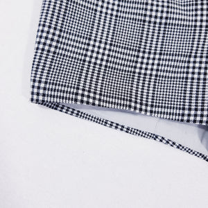 Vtg Plaid Monochrome Shorts with Braces 2-3yrs