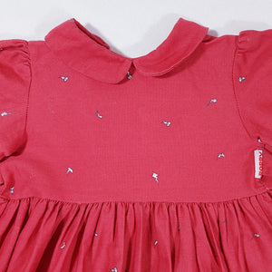 Vtg Poppy Autumn Dress 2-3yrs