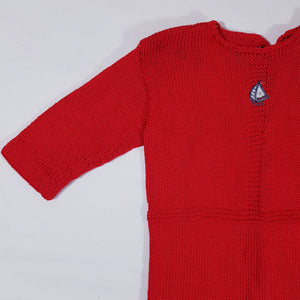 Vtg Handmade Knitted Baby Suit 1-2 yrs