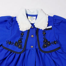 Load image into Gallery viewer, Vtg Traditional Royal Blue Dress 2-3yrs