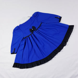 Vtg Traditional Royal Blue Dress 2-3yrs