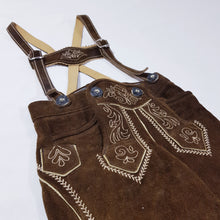 Load image into Gallery viewer, Vtg Real Suede Leather Lederhosen Shorts 1-2yrs
