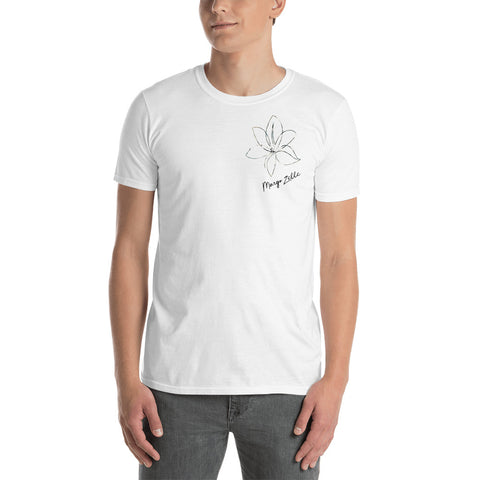White Margo Zelle Logo Short-Sleeve Unisex T-Shirt