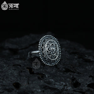 Rounded Rectangle Filigree Ring