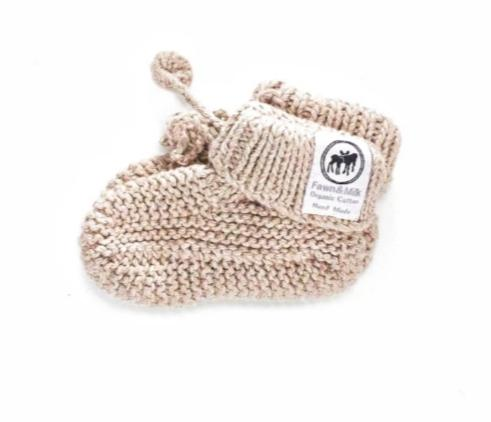 Fawn and Milk Baby Booties