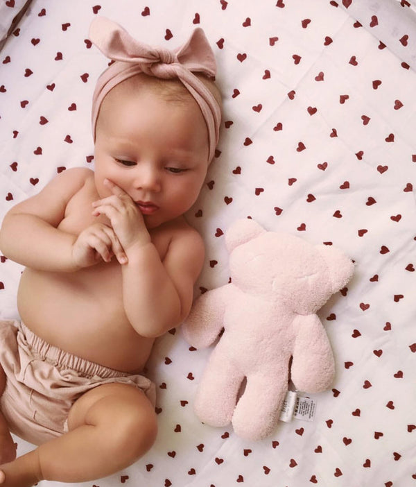 Pink Blush Baby Topknot Headband