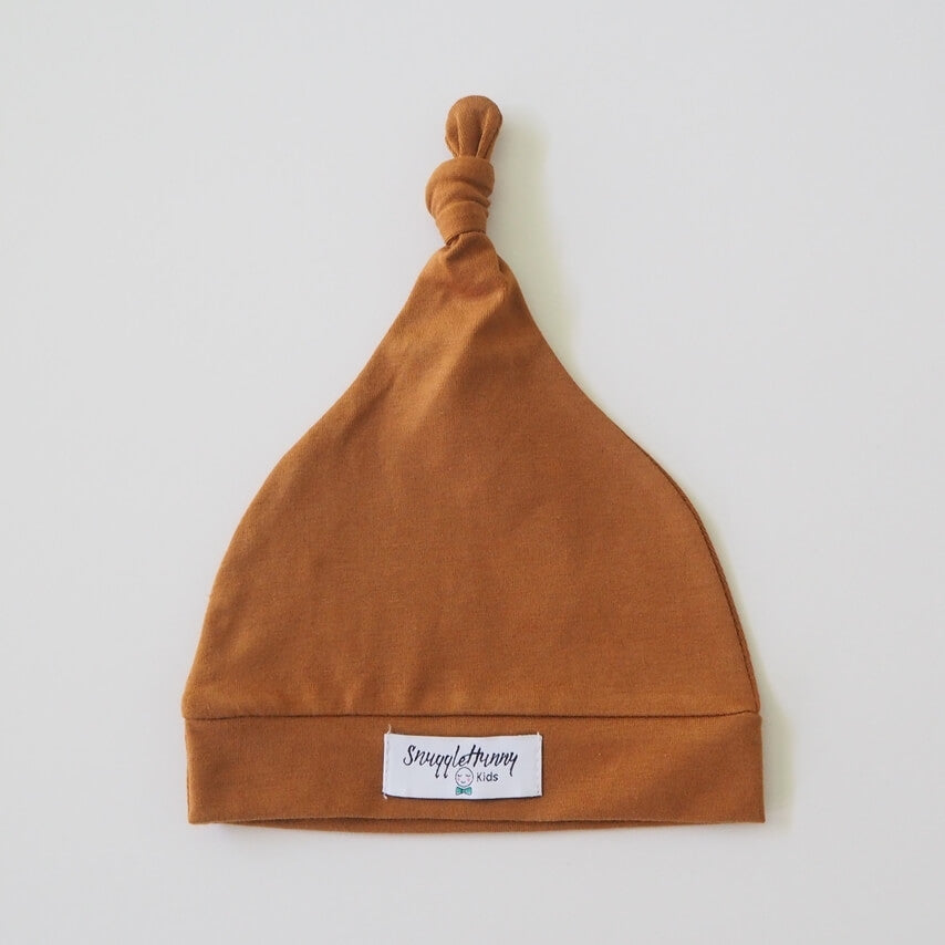 Bronze Knotted Baby Beanie