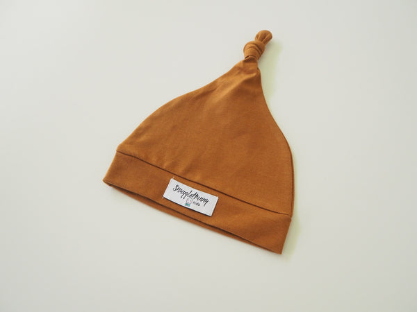 Baby Knotted Beanie - Bronze
