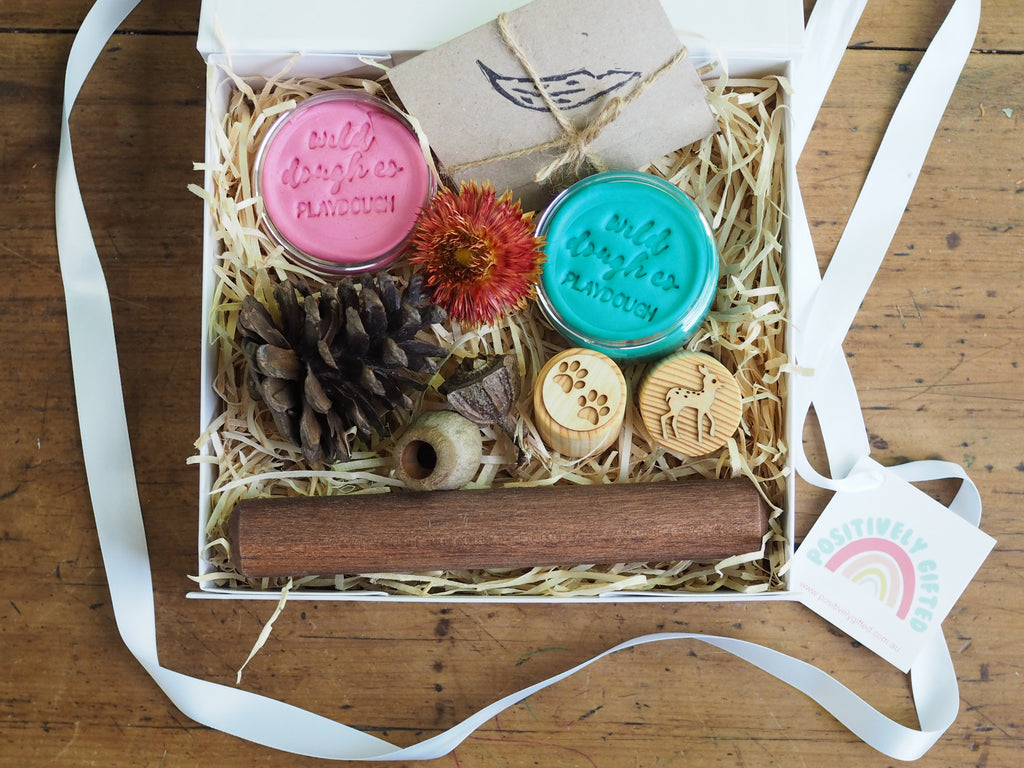 Nature Playdough Gift Hamper - Blue and Orange