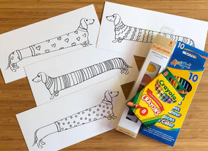 Wiener Dog Art Kits