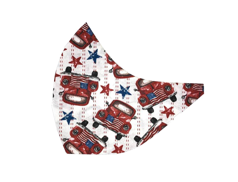 Americana Red Trucks Face Mask