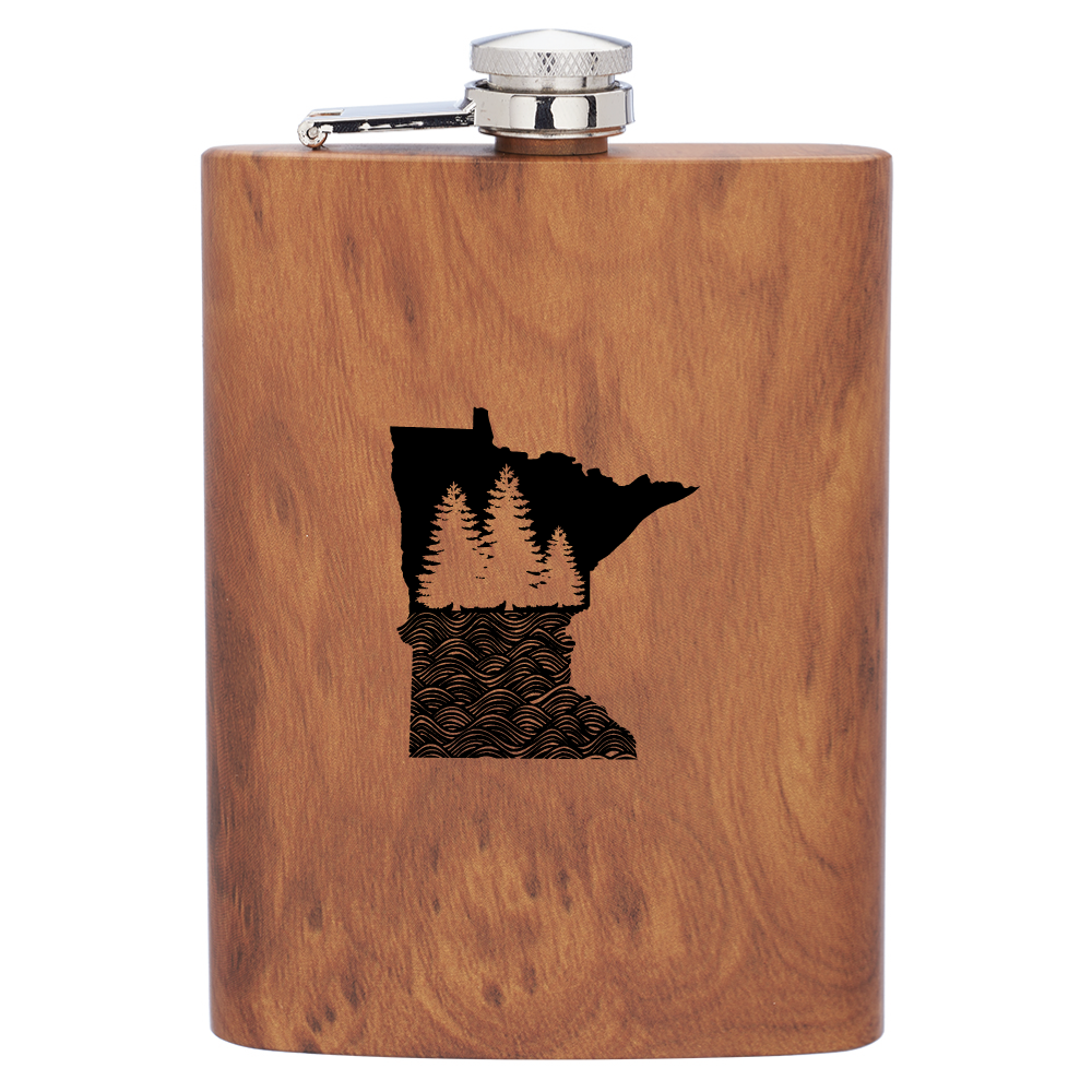 MN Wood Grain Flask
