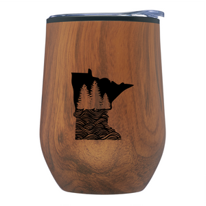 MN Wood Grain Wine Cup