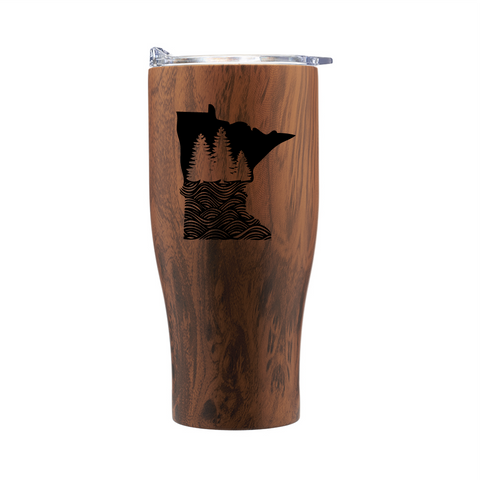 MN Wood Grain Travel Mug
