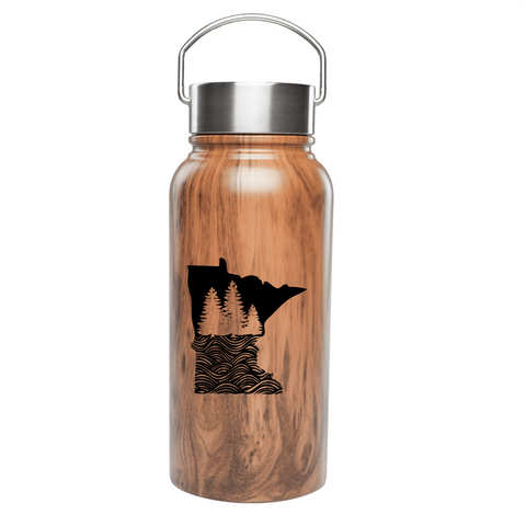 MN Wood Grain Waterbottle