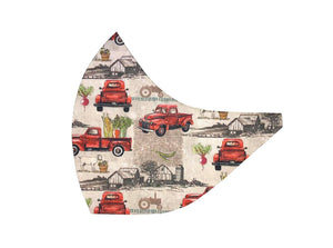 Red Truck Veggies Face Mask