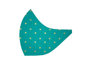 Stars on Teal Face Mask