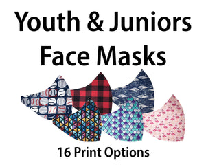 > Youth & Juniors Face Masks